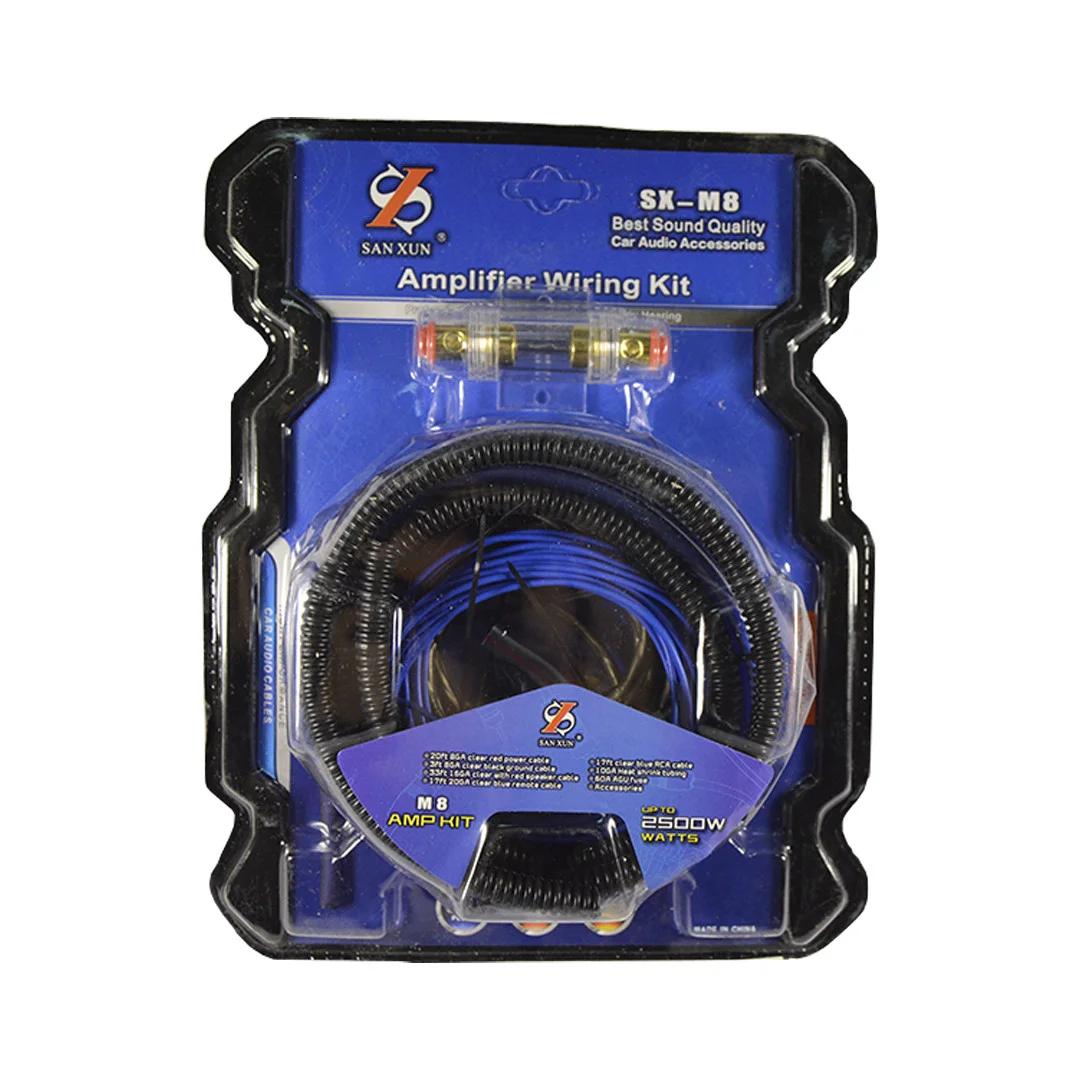 Комплект проводов среднего полу-профессионального уровня для подключения усилителей или сабвуферов до 2500 Вт