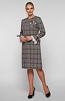 Платье большого размера VР121 серое, фото 1