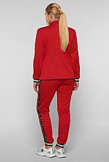 Брючный костюм красный для полных девушек Сова, фото 3