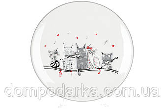 Тарелка керамическая с объемным рисунком Ночная серенада, 24см
