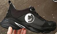 Жесть !! Pit bull чоловічі шкіряні кросівки весна літо осінь піт буль чорні з білим