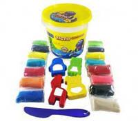 Набор для лепки Ассорти цветовых палитр с формочками 21004