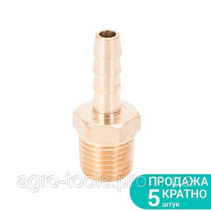 """Штуцер для шланга с наружным резьбовым соединением 6мм MT 1/4"""" (латунь) SIGMA (7023421), фото 2"""