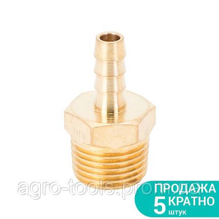 """Штуцер для шланга с наружным резьбовым соединением 8мм MT 1/2"""" (латунь) SIGMA (7023631), фото 2"""
