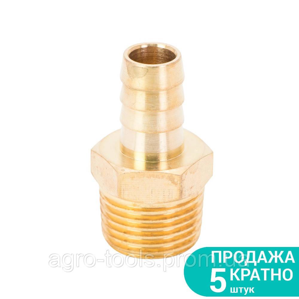 """Штуцер для шланга с наружным резьбовым соединением 12мм MT 1/2"""" (латунь) SIGMA (7023651)"""