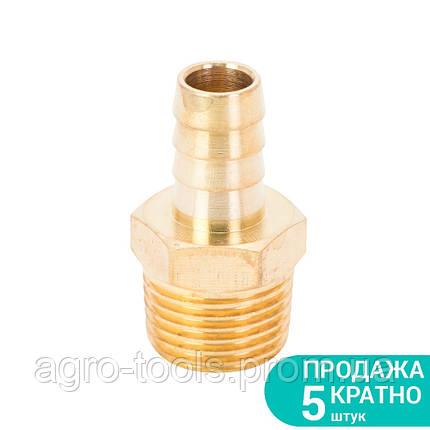 """Штуцер для шланга с наружным резьбовым соединением 12мм MT 1/2"""" (латунь) SIGMA (7023651), фото 2"""