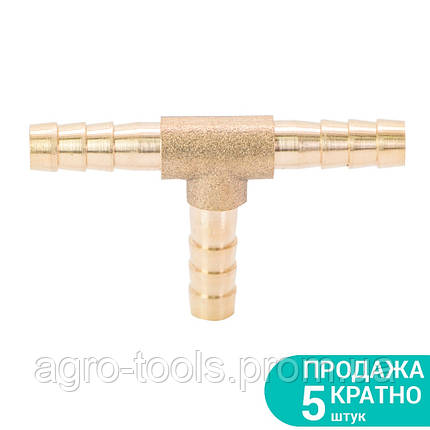 Соединение для шланга T 6мм (латунь) SIGMA (7024221), фото 2