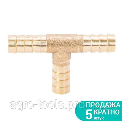 Соединение для шланга T 8мм (латунь) SIGMA (7024231), фото 2