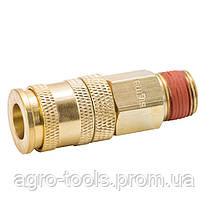 """Соединение быстросъемное усиленное с фиксатором MT 3/8"""" (латунь) SIGMA (7021621), фото 2"""