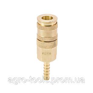 Соединение быстросъемное усиленное с фиксатором для шланга 6мм (латунь) SIGMA (7021671), фото 2