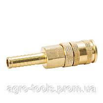 Соединение быстросъемное усиленное с фиксатором для шланга 10мм (латунь) SIGMA (7021691), фото 3