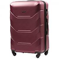 Дорожный чемоданна колесах WINGS 147 бордовий с кодовым замком  большой 76 х 48 х 29 \ 95 л L сумка дорожня