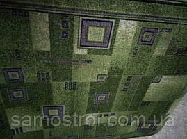 """Ковровая дорожка """"зеленый в серый квадрат"""" 1,2 м"""