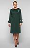 Платье большого размера VР121 изумруд