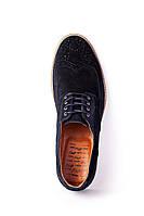 Туфлі броги Oskar замшеві сині