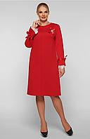Платье большого размера VР121 красное, фото 1