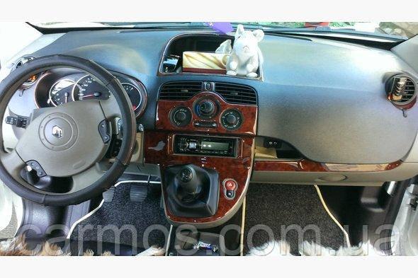 Декор панели/ Накладки на панель Кангу/ Renault Kangoo 08+. Большой комплект