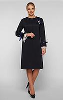Платье большого размера VР121 синее, фото 1