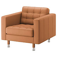 IKEA LANDSKRONA Кресло, Grann, Бомстад золото-коричневый/металл  (092.691.93)