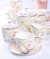 Фарфоровый чайный сервиз на 6 персон Луиза 264-700