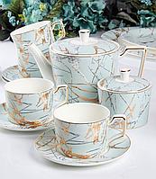 Чайный набор Мелания фарфоровый на 6 персон 264-670