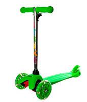 Самокат трехколесный для взрослых iTrike Mini Темно-зеленый BB 3-013-4 Dark-Green
