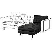 IKEA LANDSKRONA Шезлонг, Grann, Бомстад черный/металл  (191.240.34)