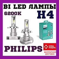 Лампы cветодиодные Philips Ultinon H7 +160% 6200K 11972ULWX2