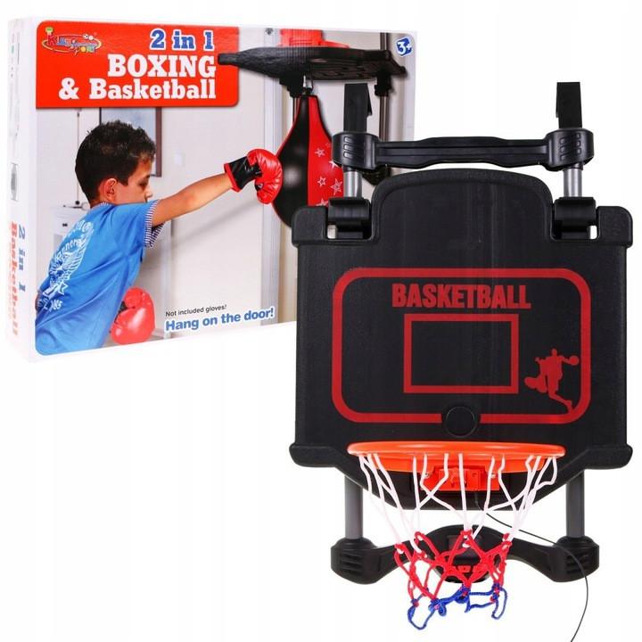 Комплект для баскетбола и бокса 2 в 1