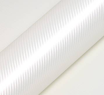 Hexis HX30CABPER Carbon Pearl White Gloss - белая перламутровая карбоновая пленка c розовым отливом 1.524 м