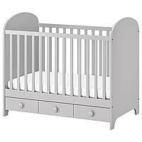 IKEA GONATT Детская кровать, светло-серая  (002.579.53)