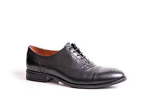 Туфлі броги ІКОС чорні