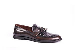 Туфлі лофери коричневі VadRus