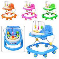 Детские ходунки SL-AA 2 дуга с подвесками 3 шт, большие колеса, 4 цвета