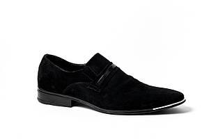 Замшеві чорні туфлі Mano