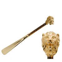 Ложка для обуви Pasotti CS W37PO золотой лев