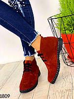 Ботинки осенние замшевые. Демисезонные, фото 1
