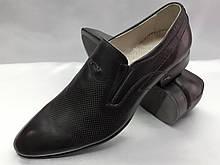 Стильные кожные классические туфли Faro