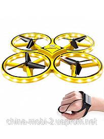 Dron 001, дрон управлением жестами руки, желтый