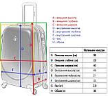 Комплект чемодан  Bonro Smile (небольшой) и кейс (средний), красный (10130207), фото 8