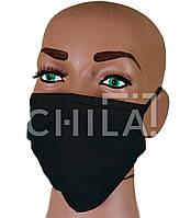Маски одноразовые Черные, трехслойные MEDICOM Safe+Mask Premier Standard (50 шт/уп)