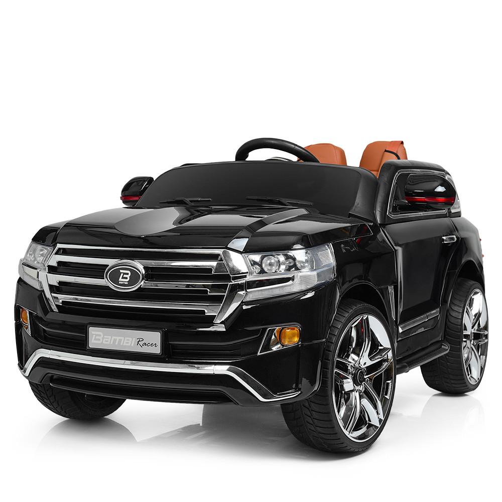 Двухместный детский электромобиль M 3984EBLRS-2 черный