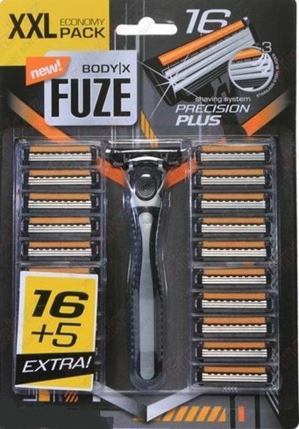 Станок для бритья Body-X Fuze xxl pack, станок + 21 съемные кассеты