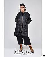 Тёплая минималистичная куртка Большие размеры