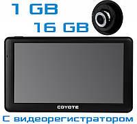 GPS COYOTE926 DVR Hurricane PRO + AV 1gb-16gb Андроид Навигатор с Видеорегистратором для грузовых и легковых