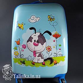 Детский дорожный чемодан на 4-х колесах Собачка 112D