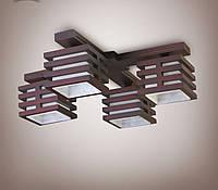 Люстра 4-х ламповая, деревянная, спальня, кухня, зал, гостиная 18622