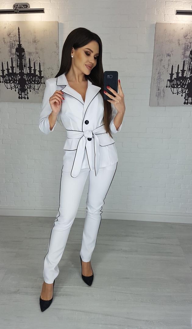 """Деловой брючный женский костюм """"Sinead"""" с пиджаком (5 цветов)"""
