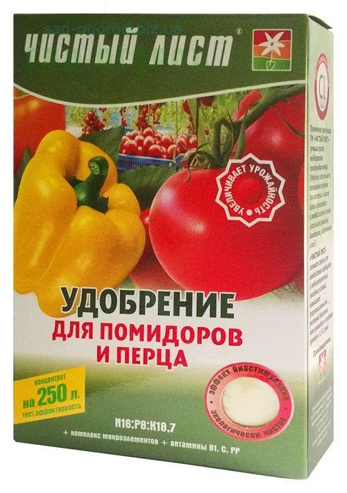 Чистый лист кристаллическое удобрение для помидоров и перца, 300 г