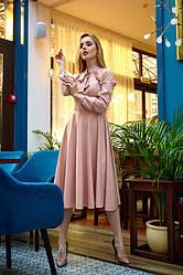 Сукня міді 1222.4 колір бежевий
